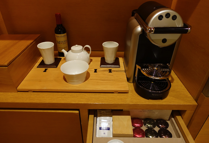 Nespresso Machine and Capsules, Park Hyatt Seoul