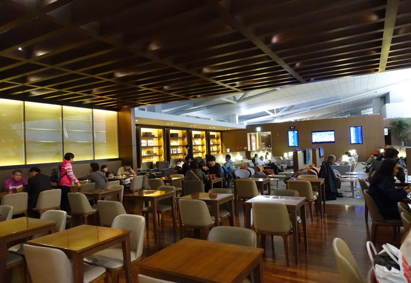 Asiana Business Class Lounge Review - Dining Room Seating