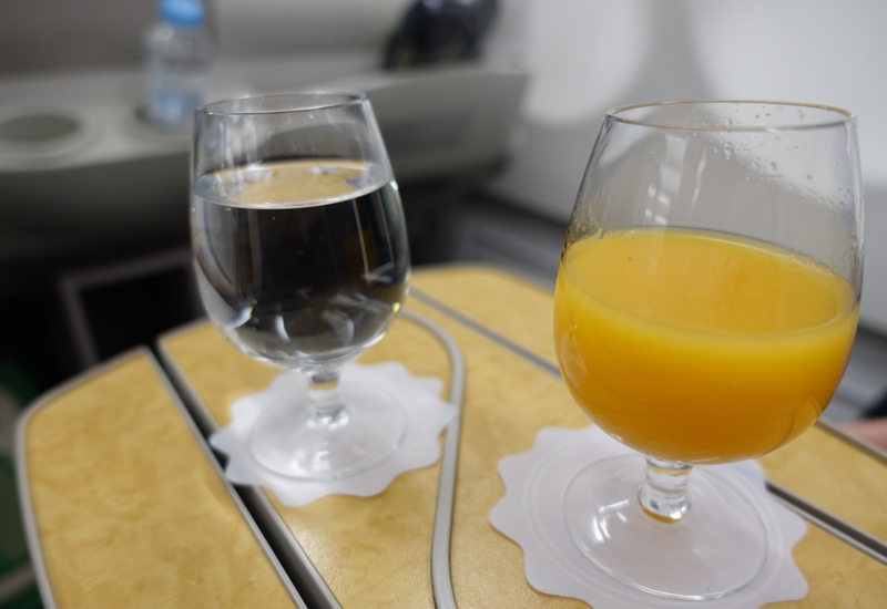 Pre-Flight Drinks, Asiana Business Class