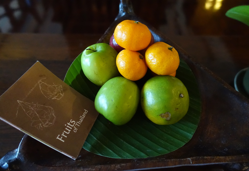 Fruit Welcome Amenity, Anantara Golden Triangle