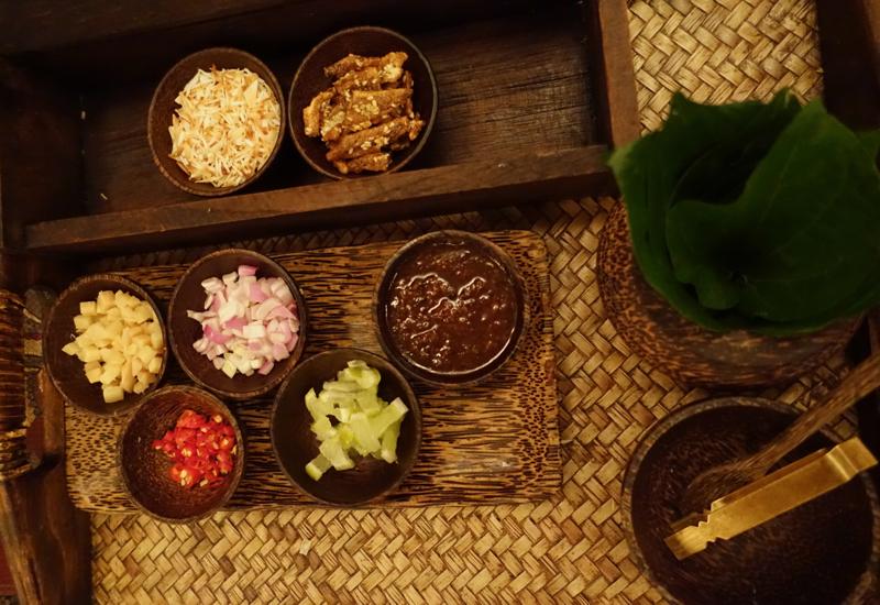 Miang Kham Appetizer at Sala Mae Nam, Anantara Golden Triangle