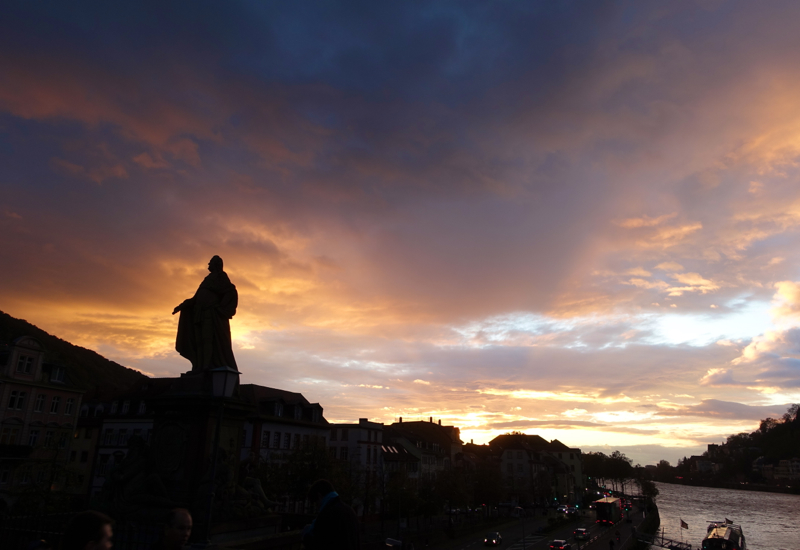 What to Do in Heidelberg: Sunset from the Old Bridge