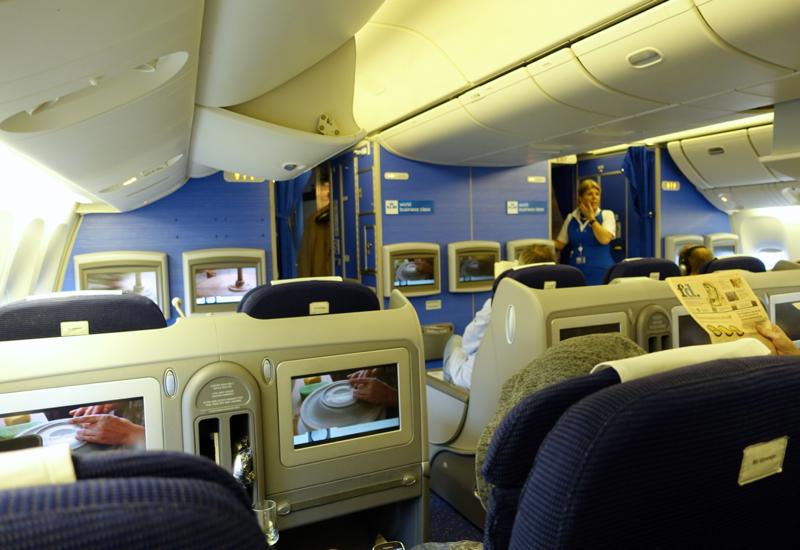 KLM Business Class Cabin, 777