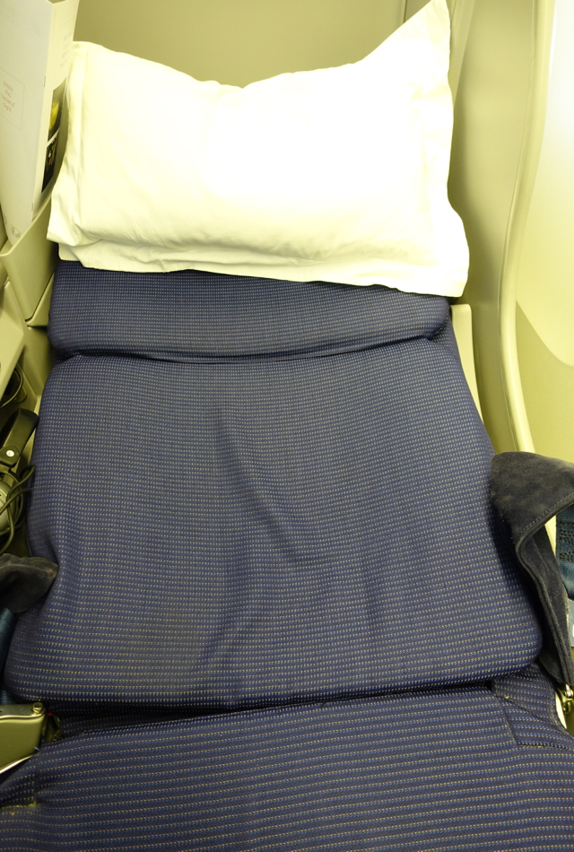 KLM Business Class-Angled Flat Seat Reclined