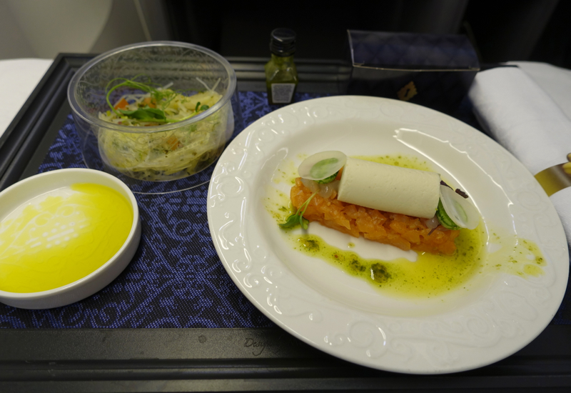 KLM Business Class Lunch Appetizer and Salad