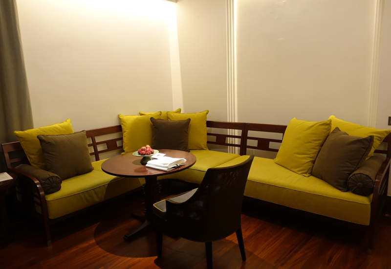 Park Hyatt Siem Reap Review - Living Area of Park Deluxe Room
