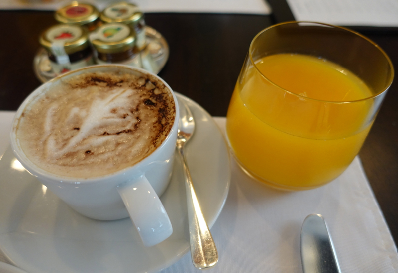 Orange Juice and Cappuccino, Park Hyatt Siem Reap Breakfast