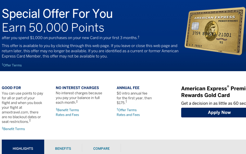 Review of the American Express® Premier Rewards Gold Card