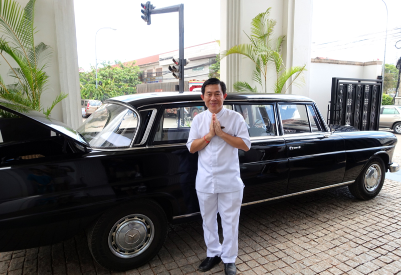 Amansara Virtuoso Review Siem Reap-Vintage Mercedes Transfer