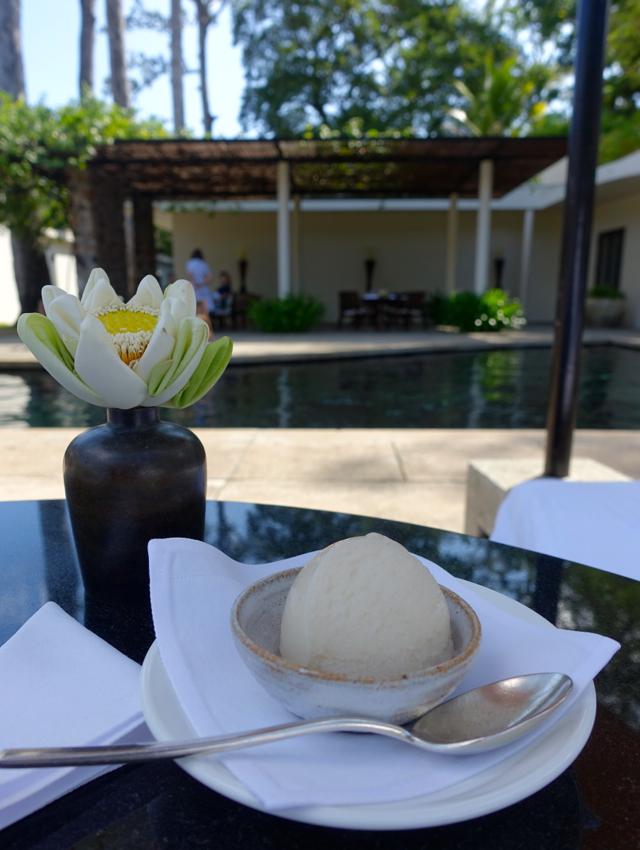 Delicious Sorbet Poolside at Amansara