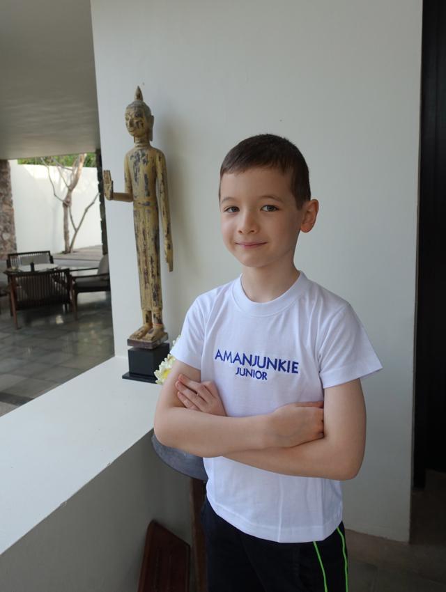 Sporting an Aman Junkie Jr. T-Shirt!