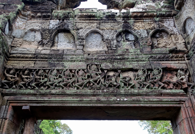 Carvings of Apsara Dancers at Preah Khan Temple