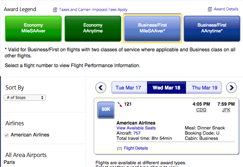 AAdvantage Saver Business Class to Europe Cheaper Than Delta SkyMiles Level 1 Award