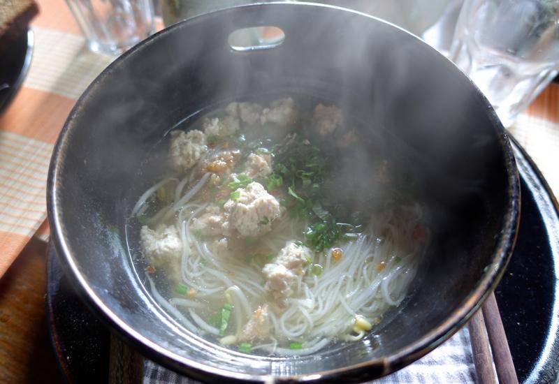 Noodle Soup for Breakfast at Amansara's Khmer Village House