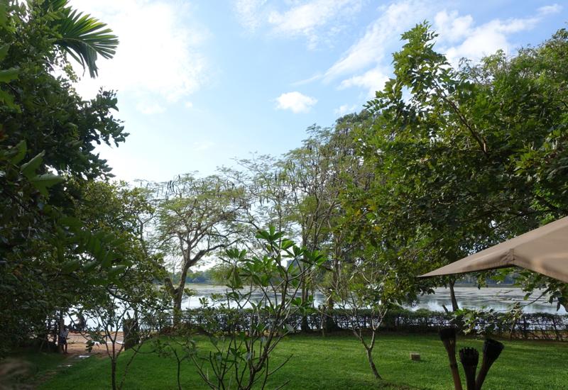 View of Srah Srang Reservoir from Amansara's Khmer Village House