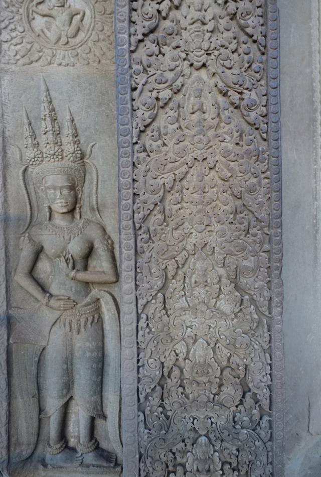Apsara Carving Detail, Angkor Wat