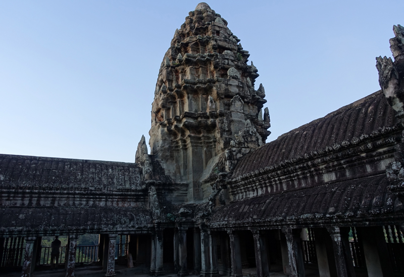 Exploring the top of Angkor Wat Without the Crowds