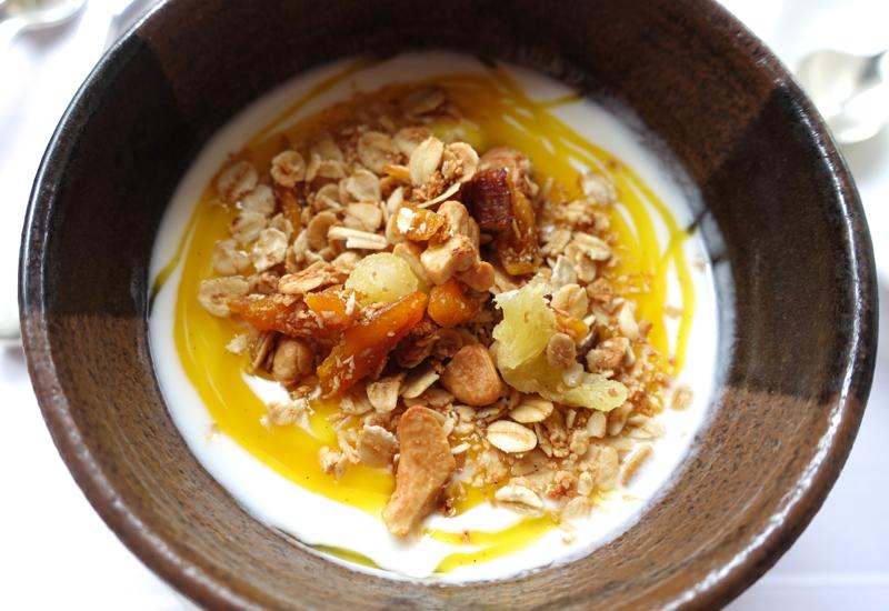 Amansara Restaurant - Mango Yogurt with Homemade Granola