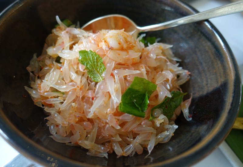 Spicy Pomelo Salad with Shrimp, Amansara Lunch
