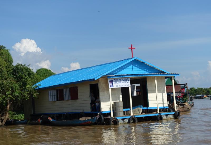 Floating Church, Amansara Tonle Sap Boat Cruise