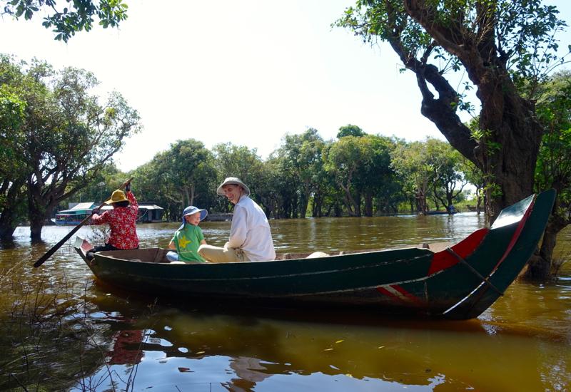 Paddling Through the Mangrove Forest, Tonle Sap