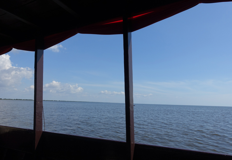 View of Tonle Sap and Blue Sky, Amansara Boat Cruise