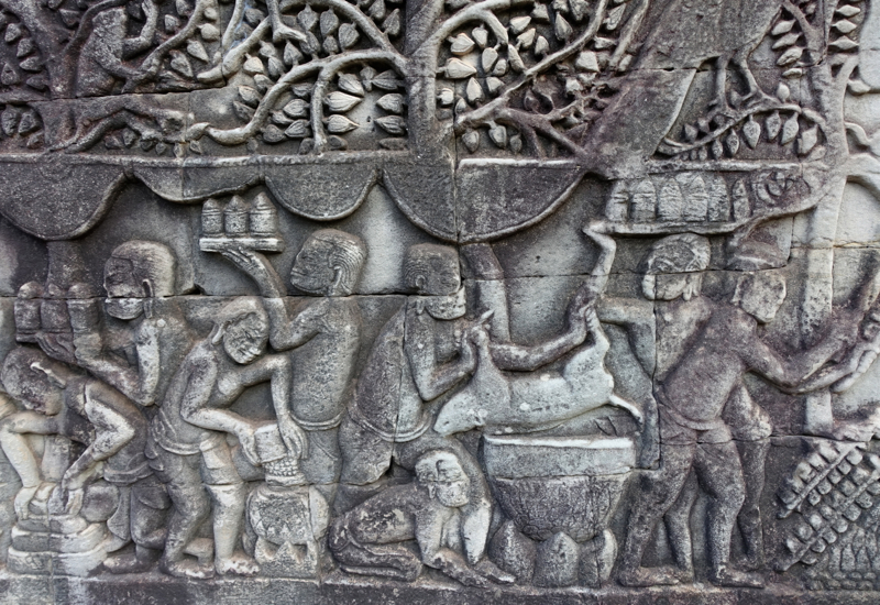 Khmer Victory Feast After Defeating Cham, The Bayon