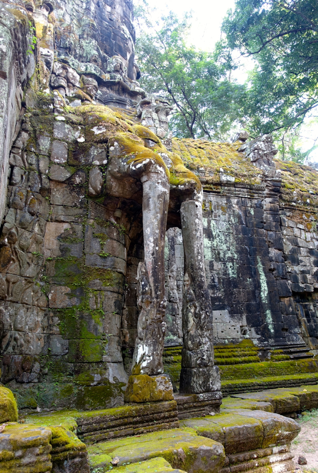 Elephant Trunks as Part of Angkor Thom Gate