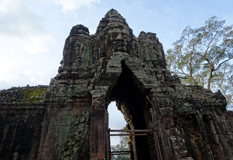 Angkor Thom Gate on the Way to The Bayon