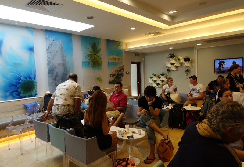 Crowded Bangkok Airways Airport Lounge