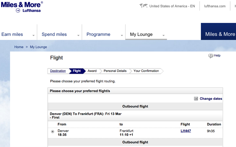 Tips Booking Lufthansa First Class Awards - Instead of LAX or SFO Fly from other cities