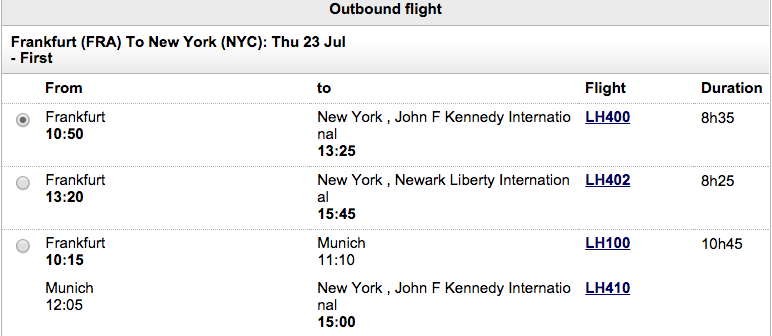 Tips Booking Lufthansa First Class: Book from NYC and Fly JetBlue Mint to NYC