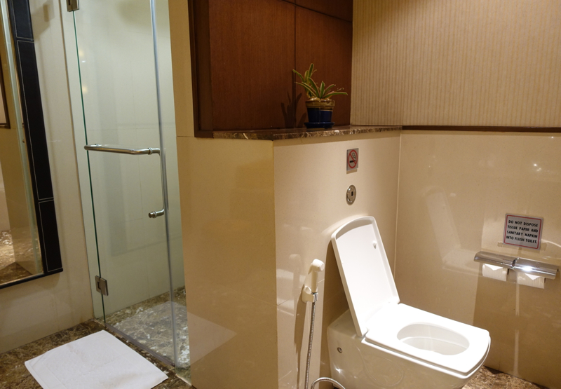 Thai Royal First Lounge Bangkok Review - Shower Suite