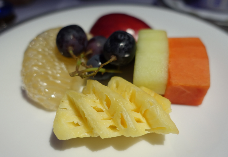 Breakfast Fruit Plate, Thai Airways First Class