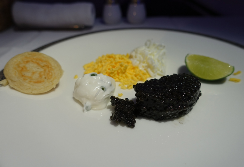 Caviar Service, Thai Airways Royal First Class