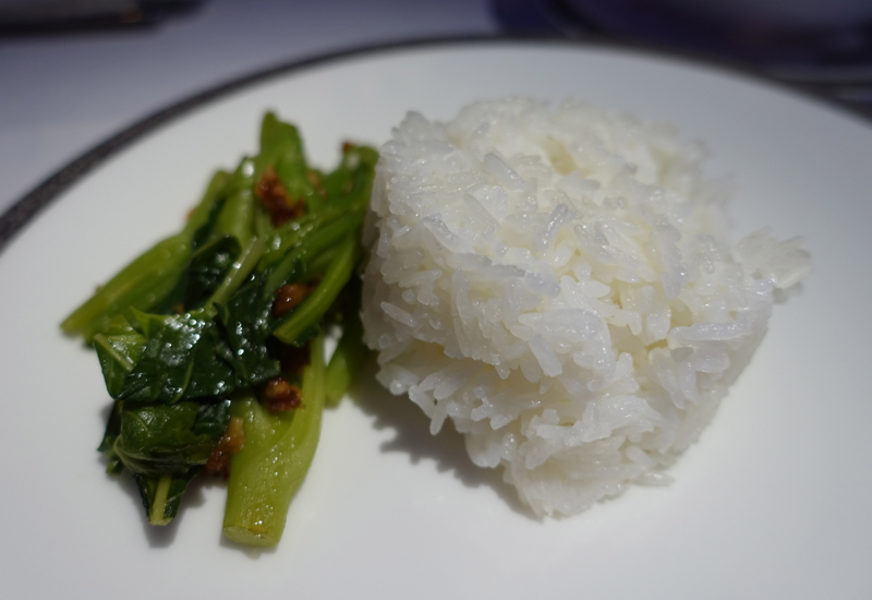 Rice and Vegetables, Thai Royal First Class