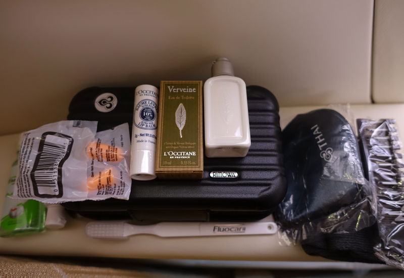 Thai Airways First Class Rimowa Amenity Kit with L'Occitane Products