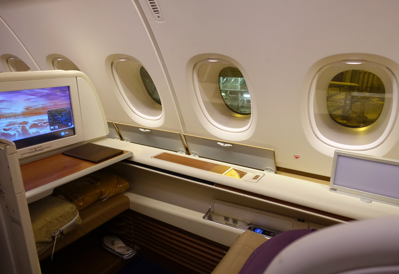 Thai Airways A380 First Class Review-Seat 2K