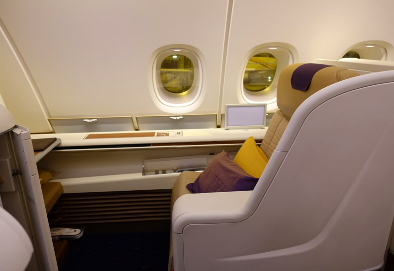 Thai Airways First Class A380 Review-Seat 1K