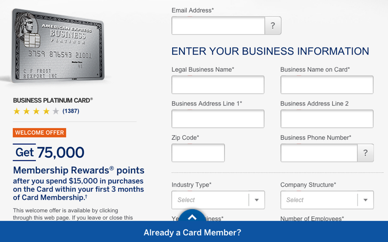 75K AMEX Business Platinum Signup Bonus Offer