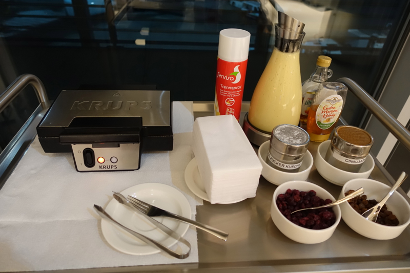 DIY Waffle Station, Air Canada Maple Leaf Lounge Frankfurt