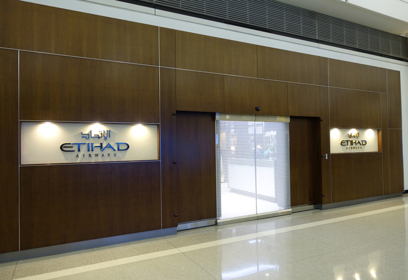 Etihad Lounge Entrance in Terminal A, Washington Dulles Airport