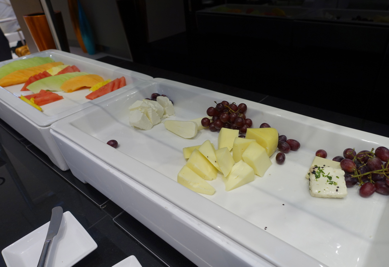 Fruit and Cheese Buffet, Etihad Lounge Washington Dulles