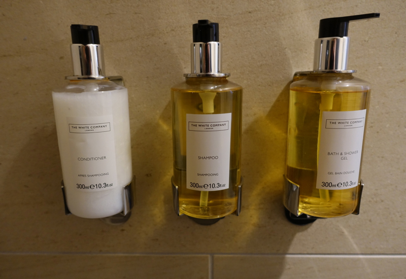 Etihad Lounge Review IAD-Shower Suite-The White Company Bath Products
