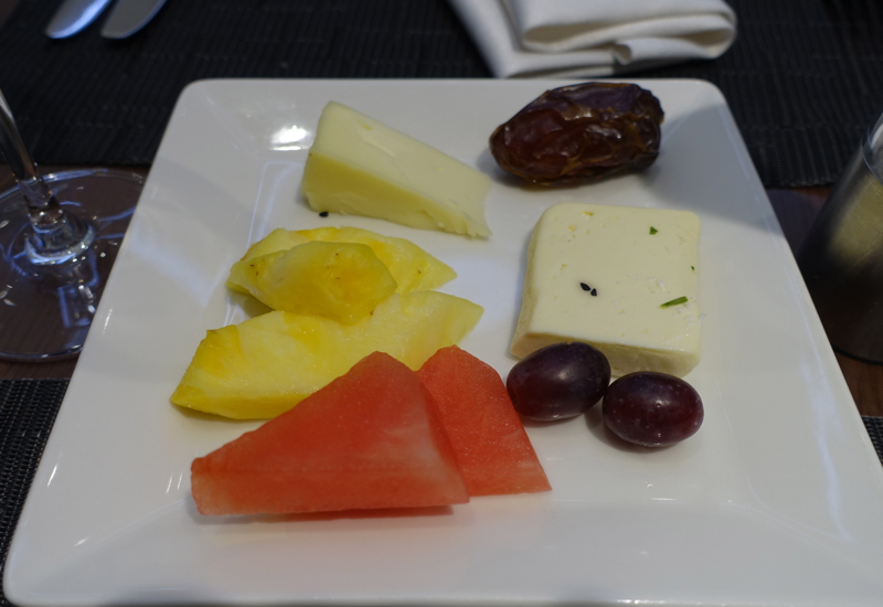 Fresh Fruit and Cheese Plate, Etihad Lounge IAD