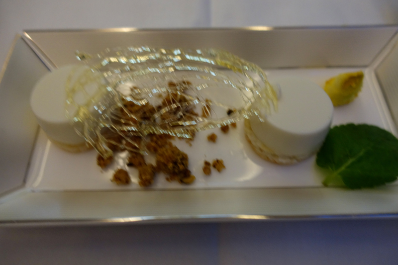Coconut Panna Cotta, Etihad First Class Review