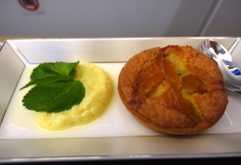 Etihad First Class Review - Apricot Almond Tart