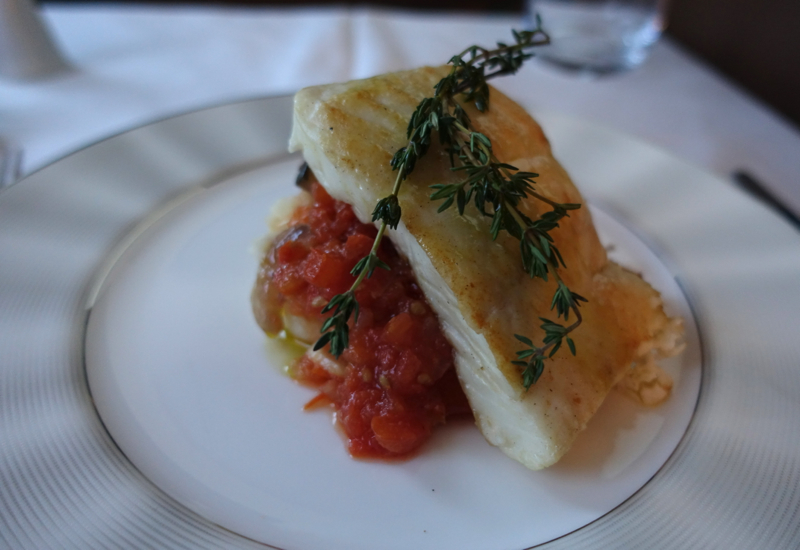 Sea Bass Fish of the Day, Etihad First Class