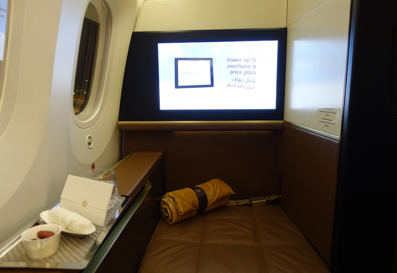 Etihad First Class Suite Review 787-9 - Ottoman