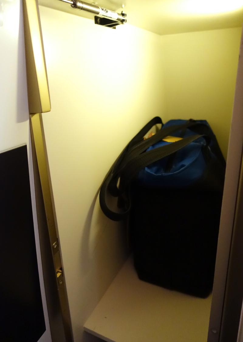 Etihad First Class Review 787-9 - Storage Closet